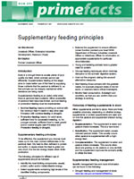 Supplementary Feeding Principles