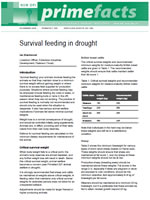 Survival feeding in drought