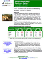 Livestock feeding support during drought