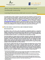 Slow-onset disasters: drought and food and livelihoods security – Learning from previous relief and recovery responses