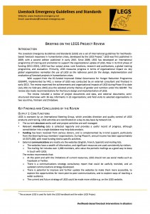 Briefing on the LEGS Review June 2015 cover