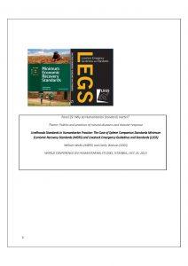 Livelihoods based standards in humanitarian practice